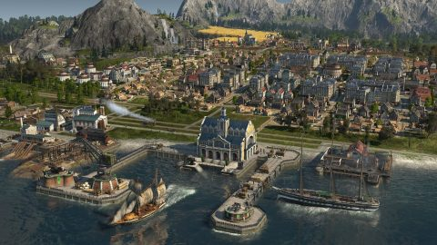 Screenshot of a town in Anno 1800